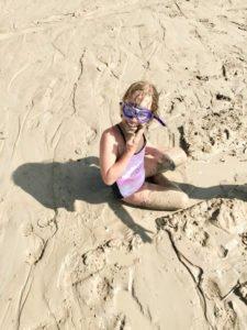 Gratis Peeling am Strand von Lyngby.