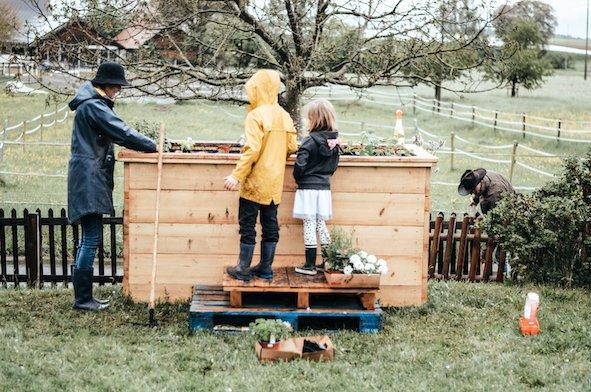 anleiten gartenbeet bepflanzen homeschooling